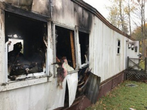 Multiple fire departments responded to Leighton Lane near 727 River Ave. in south Gardiner Tuesday morning for a fire at a mobile home.