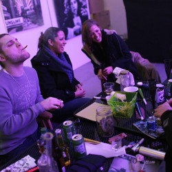 Club 64, a marijuana social club in Denver, celebrates its opening on New Year's Eve 2012  Maine communities are scrambling to enact moratoriums to buy time to consider if they will put restrictions on such clubs if voters approve Question 1 on Nov. 8. Associated Press/Brennan Linsley