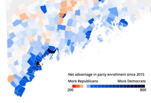 Screen shot: Democrat vs. Republican new voters