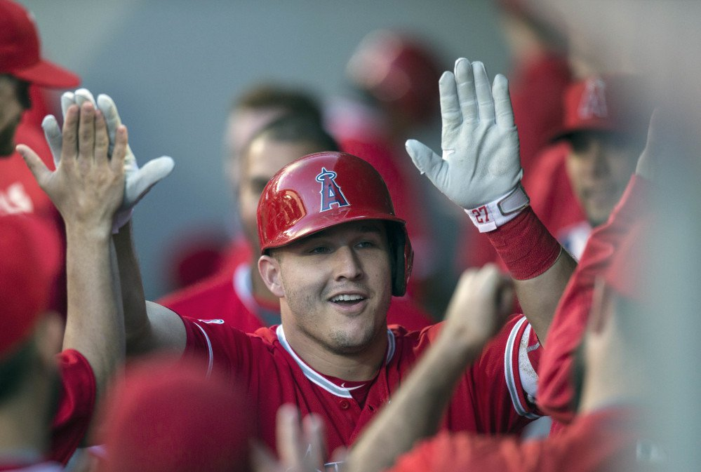 Angels' Mike Trout wins second AL MVP, outpoints Red Sox's Mookie Betts