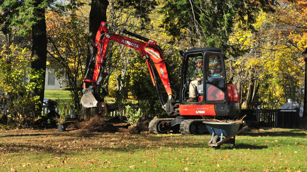 Restoration work continues on blaine house grounds in for O connor motors augusta maine